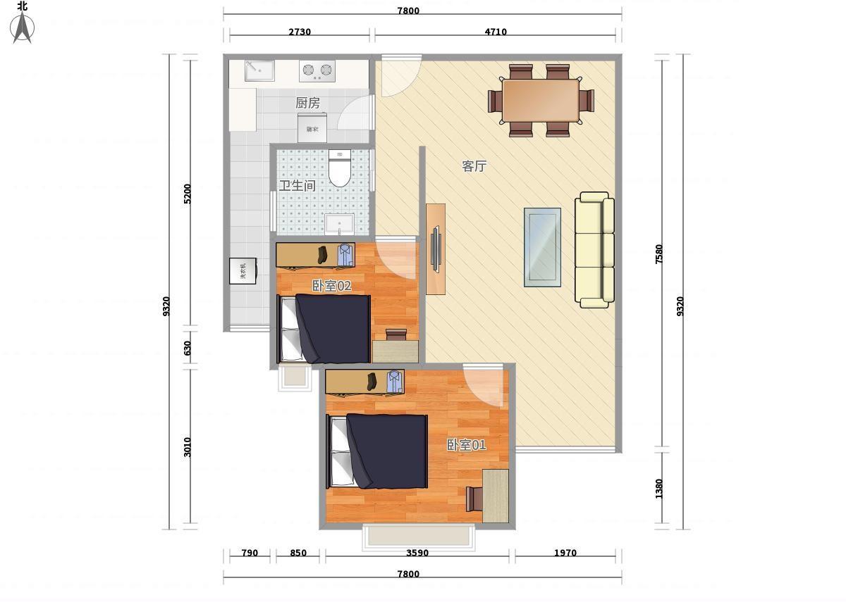 海伦国际公寓户型图