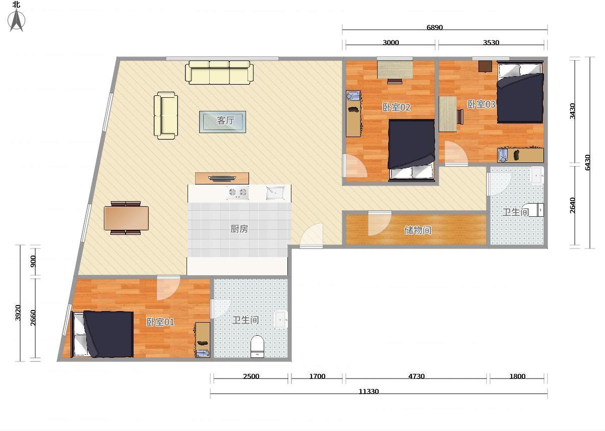 東城東直門機場線,13號線,2號線東直門當代MOMA3居室