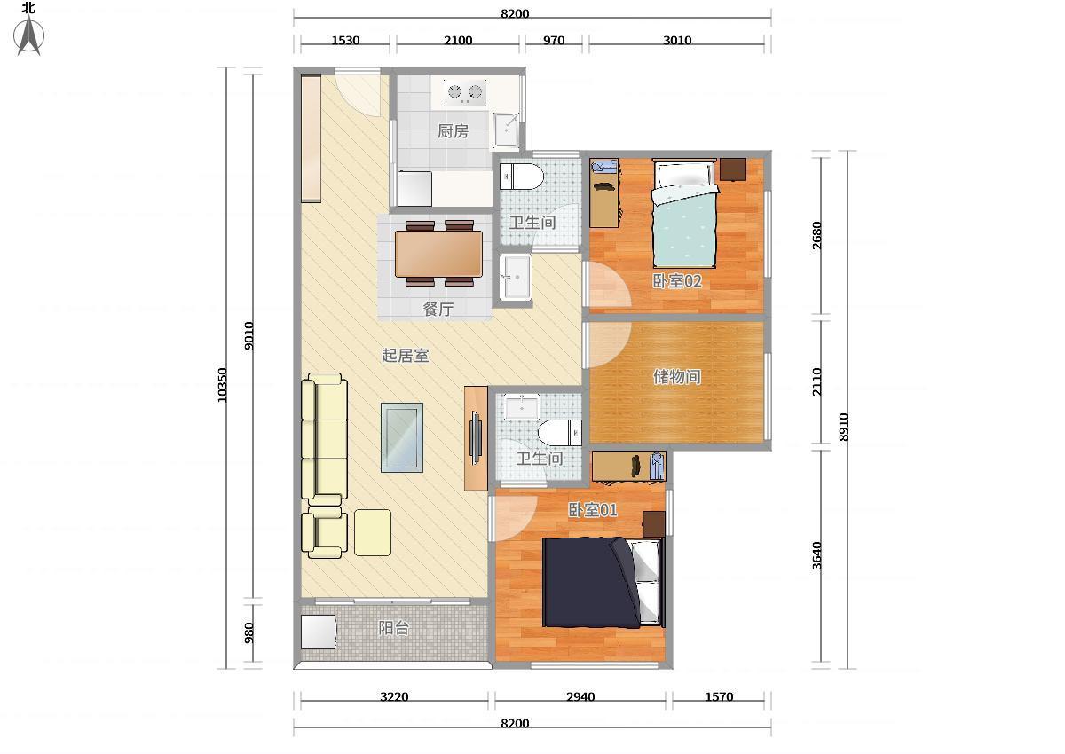 龙岗区5号线(环中线)上水径万科麓城三期2居室