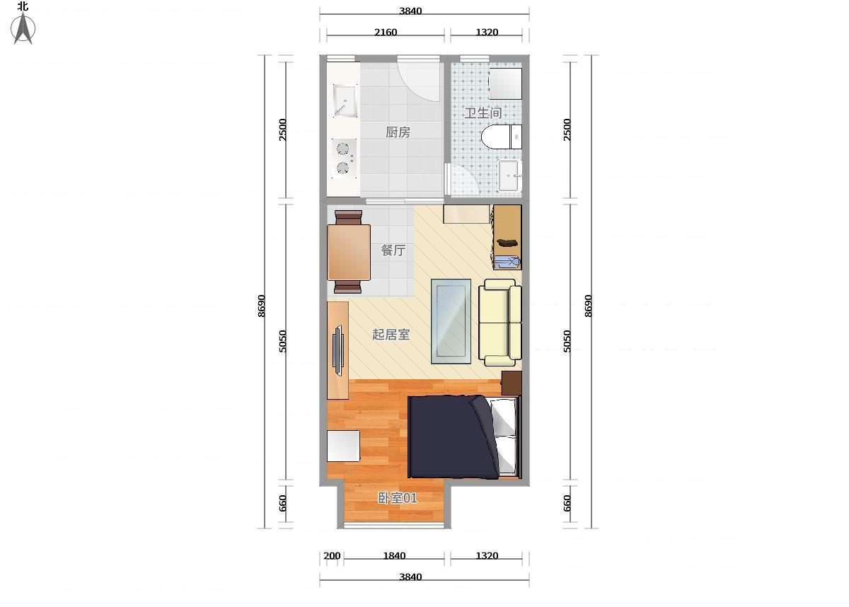南山区5号线(环中线)大学城德意名居一期1居室
