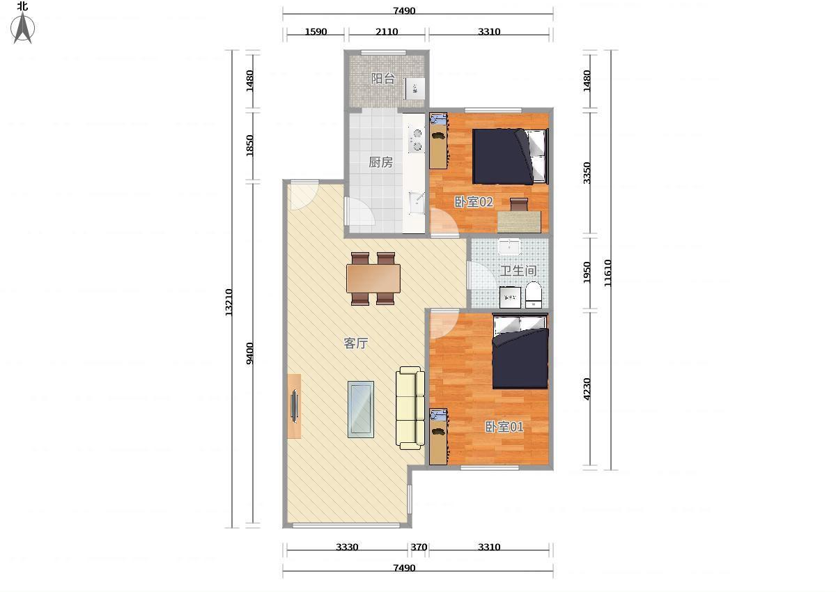 海淀西二旗昌平线,13号线西二旗领秀新硅谷1号院2居室