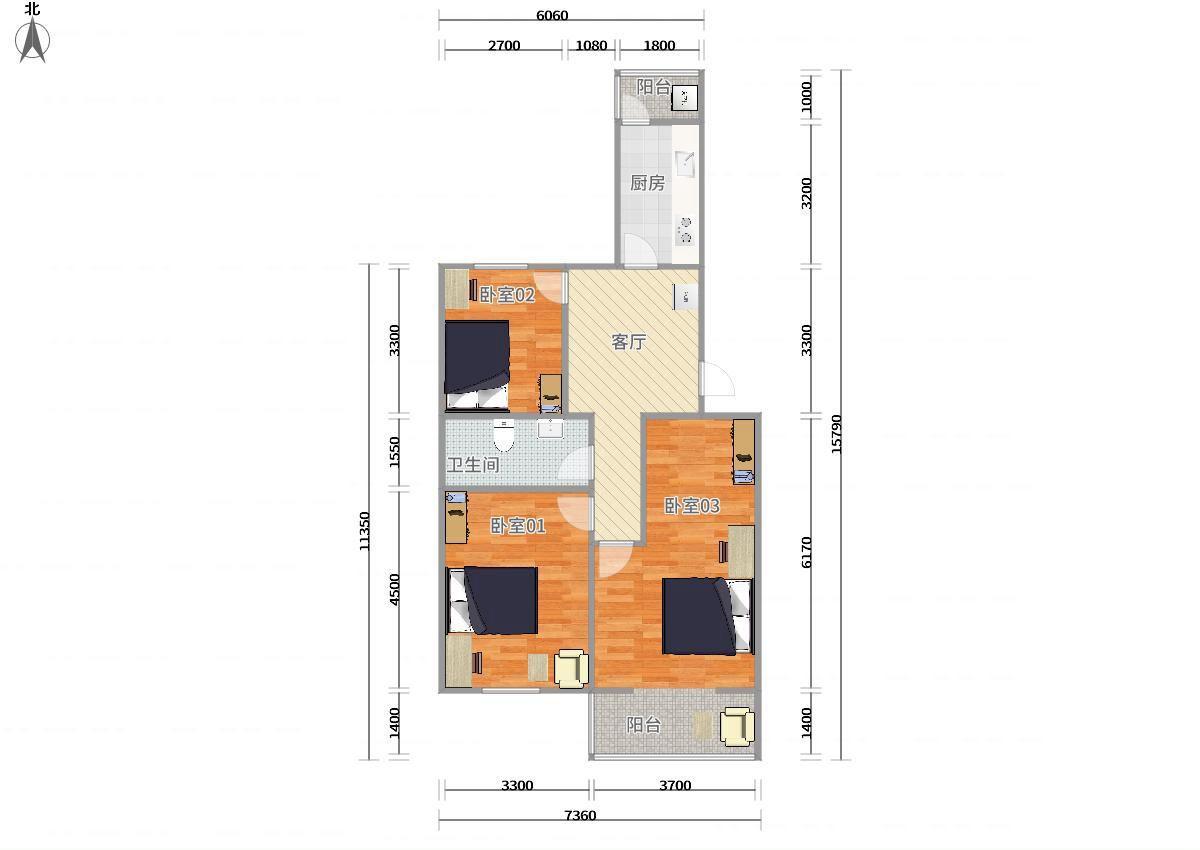 瑞海家园五区3居室 03卧