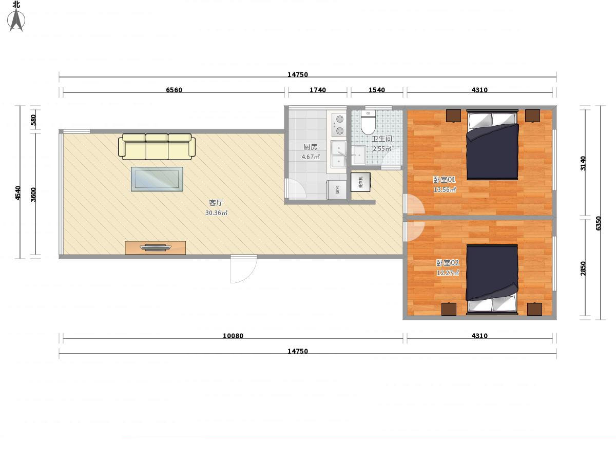 大兴黄村4号线高米店南新里西斯莱公馆2居室