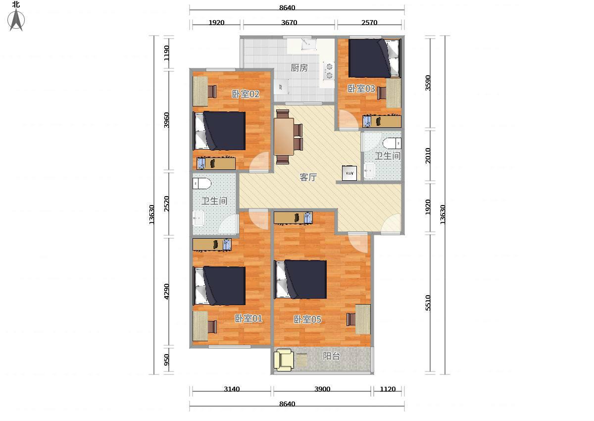 大兴西红门4号线新宫绿林苑3居室
