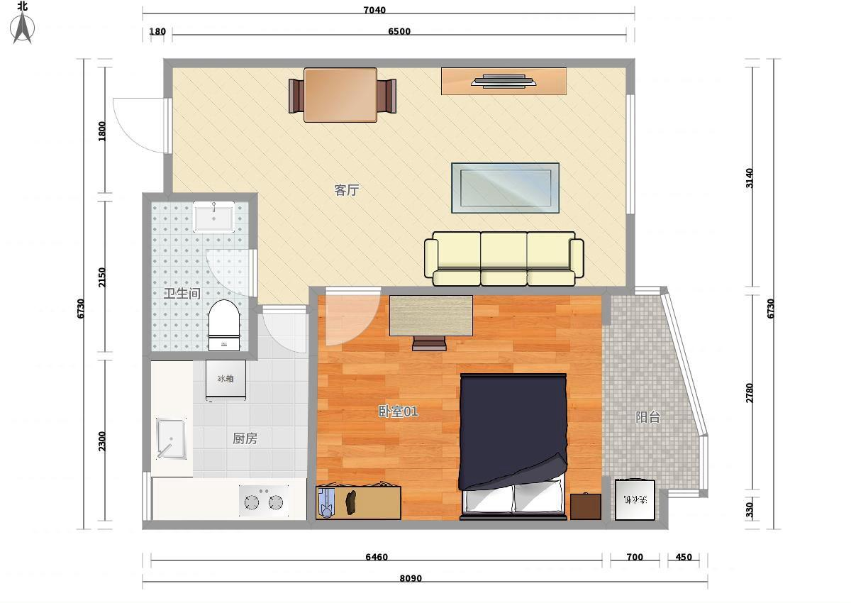 瑞海家园三区1居室