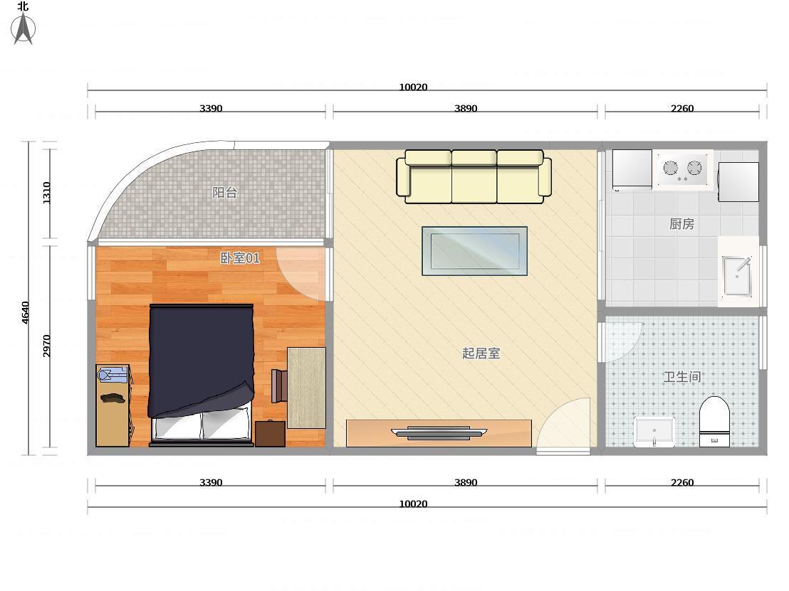 南山区蛇口2号线(蛇口线)水湾花园城三期1居室