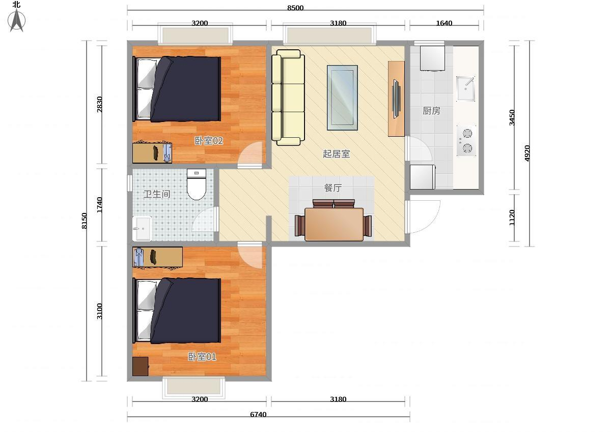 大興天宮院4號線天宮院金融街融匯2居室