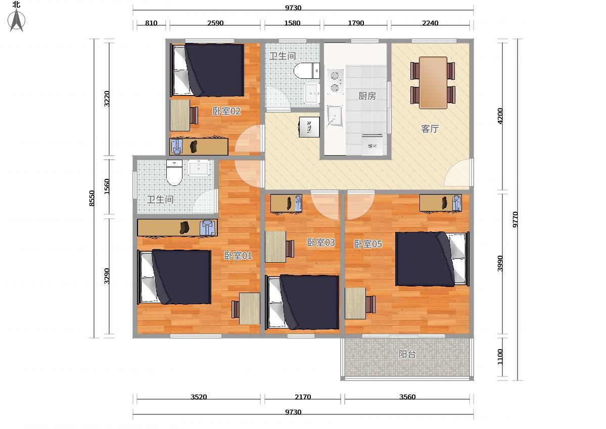 南山区蛇口2号线(蛇口线)东角头千叶苑4居室图片