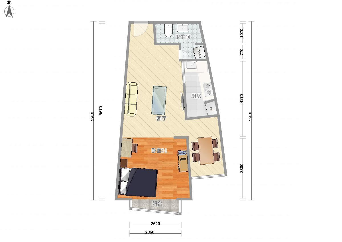 澳洲康都1居室租房|房屋出租(北京链家网)