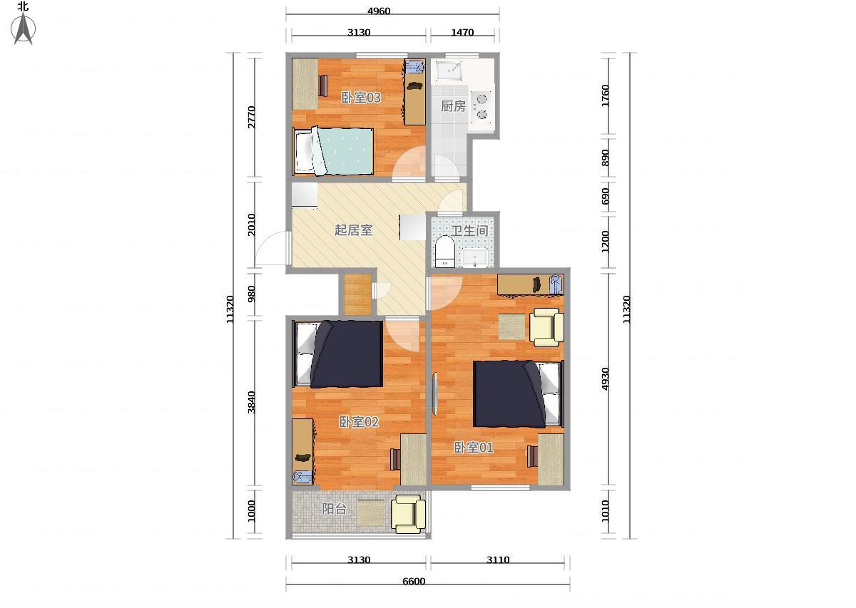 海淀双榆树4号线人民大学双榆树东里3居室