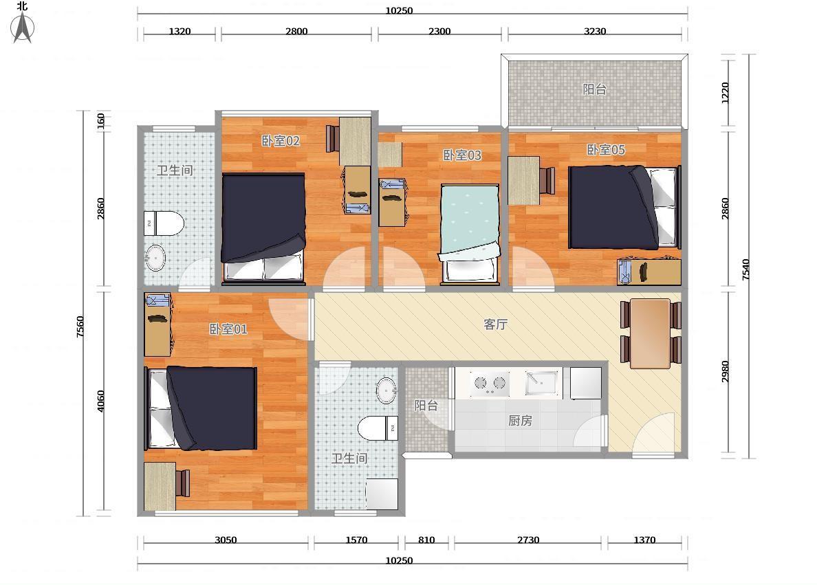 龙岗区横岗3号线(龙岗线)六约锦荟PARK4居室