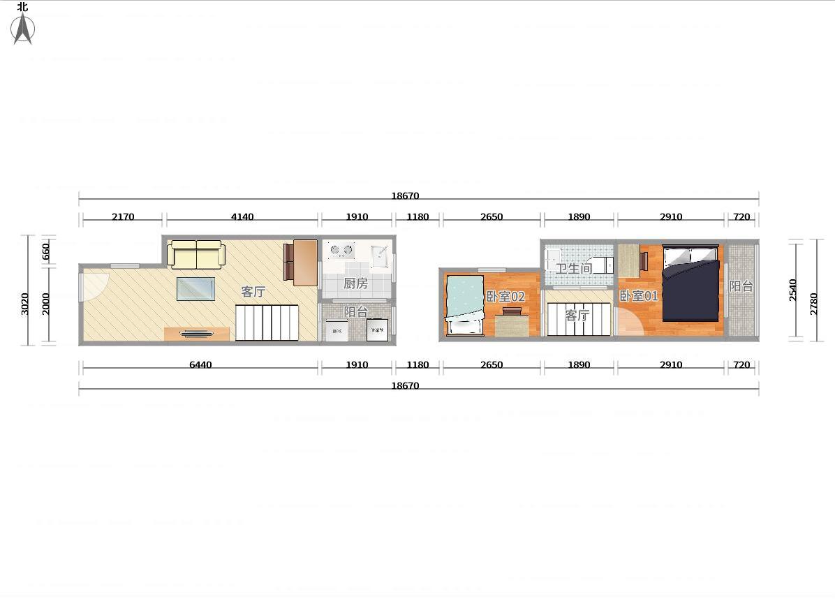 南山区半岛2号线(蛇口线)东角头栖游家园2居室
