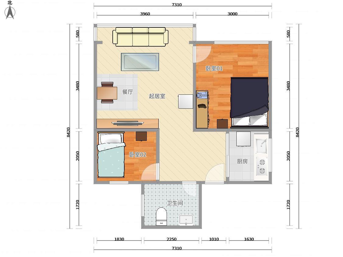 南山区半岛2号线(蛇口线)东角头港湾花园2居室