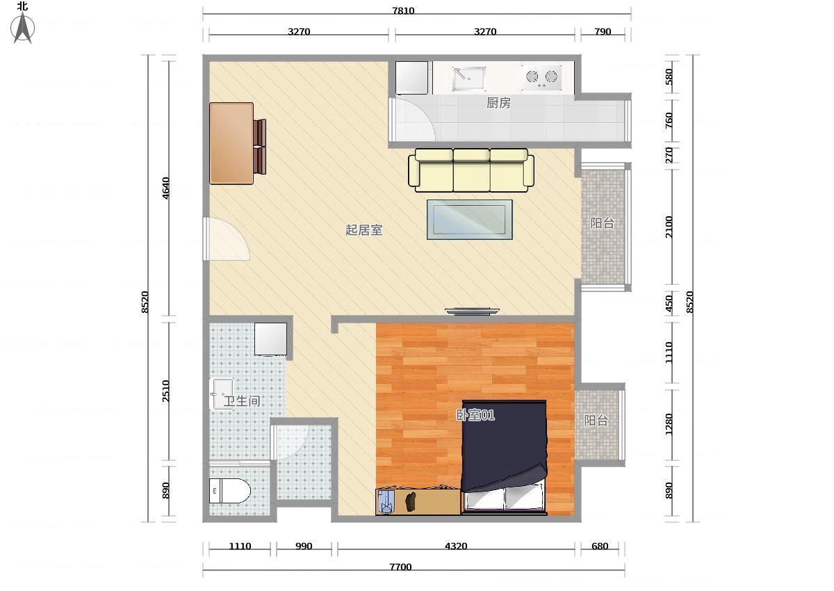 丰台青塔1号线五棵松大成时代中心1居室