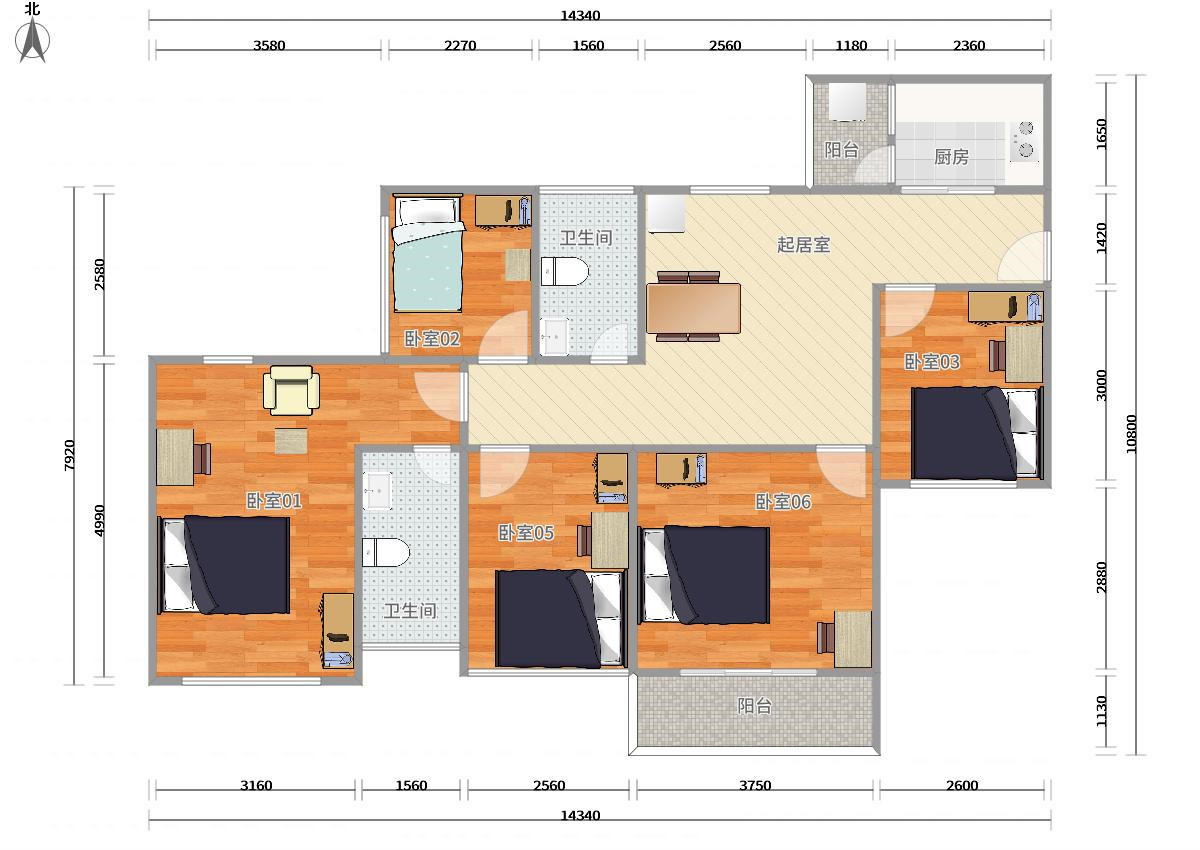 龙华区4号线(龙华线)上塘星河传奇二期5居室
