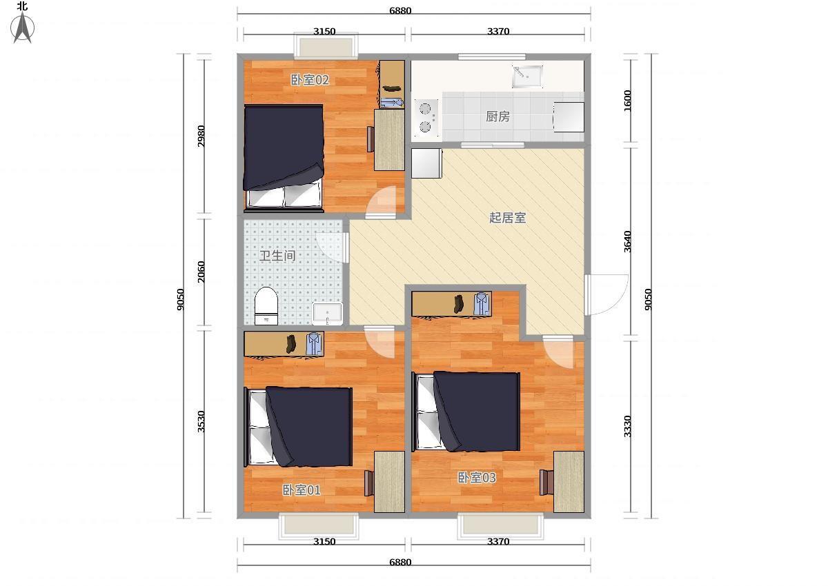 大兴天宫院4号线天宫院金融街融汇3居室