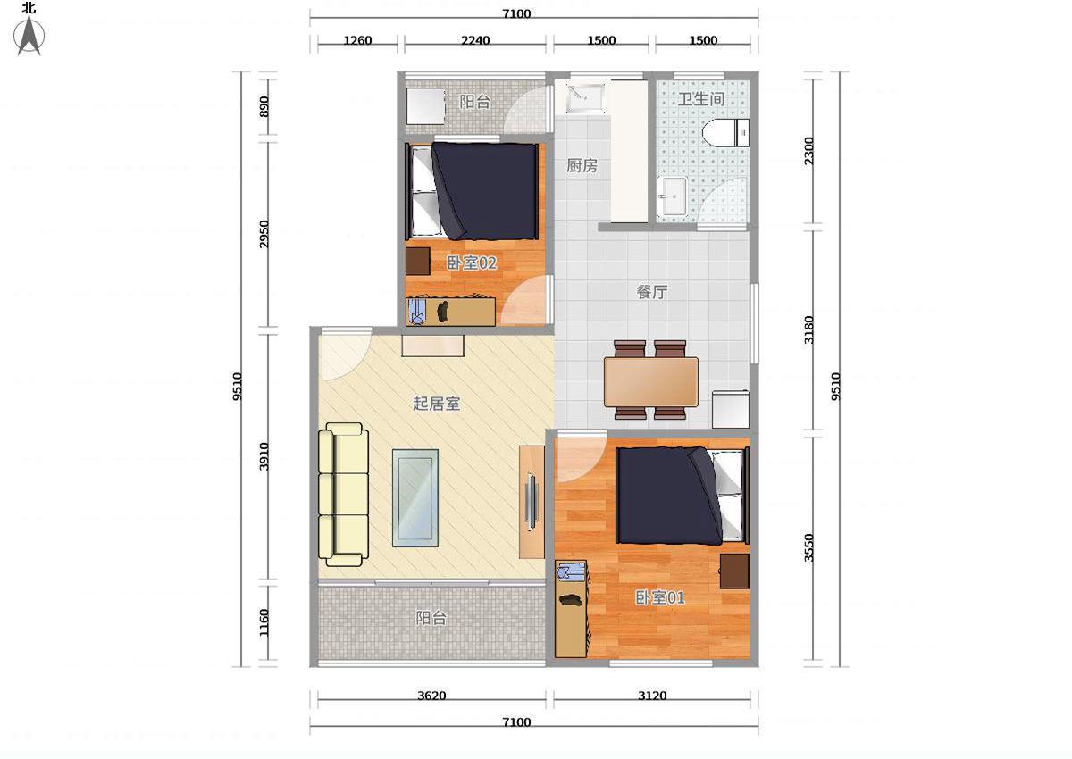 福田区梅林9号线梅村中康生活区2居室