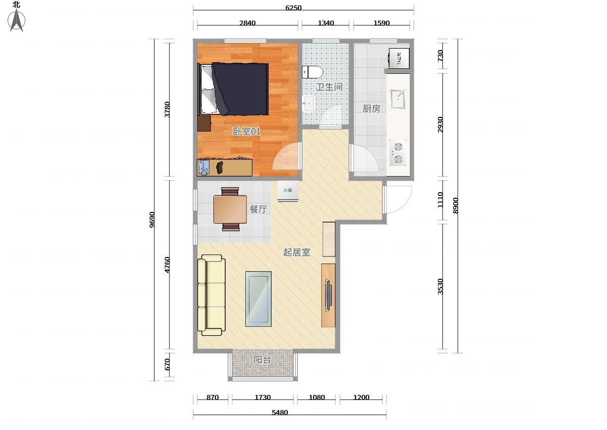 75平方米自建房设计图