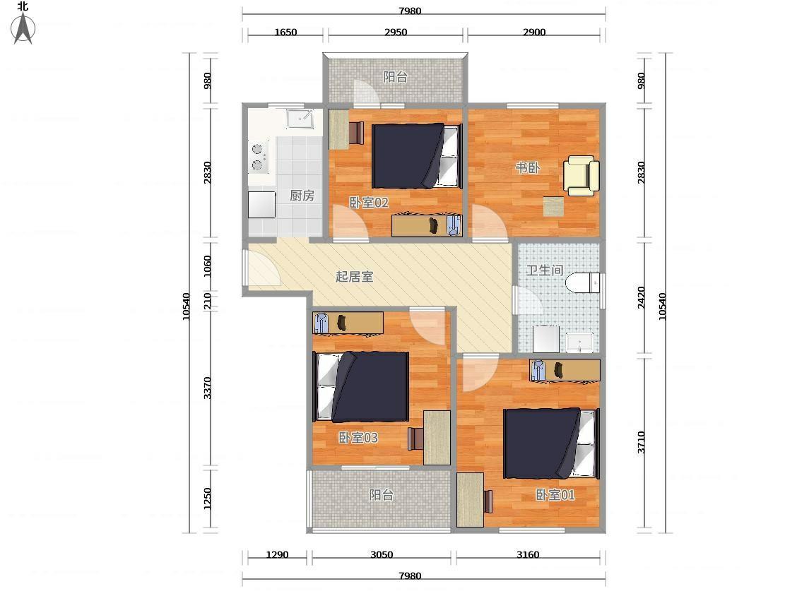 闵行浦江8号线汇臻路浦江瑞和城陆街区(南)3居室