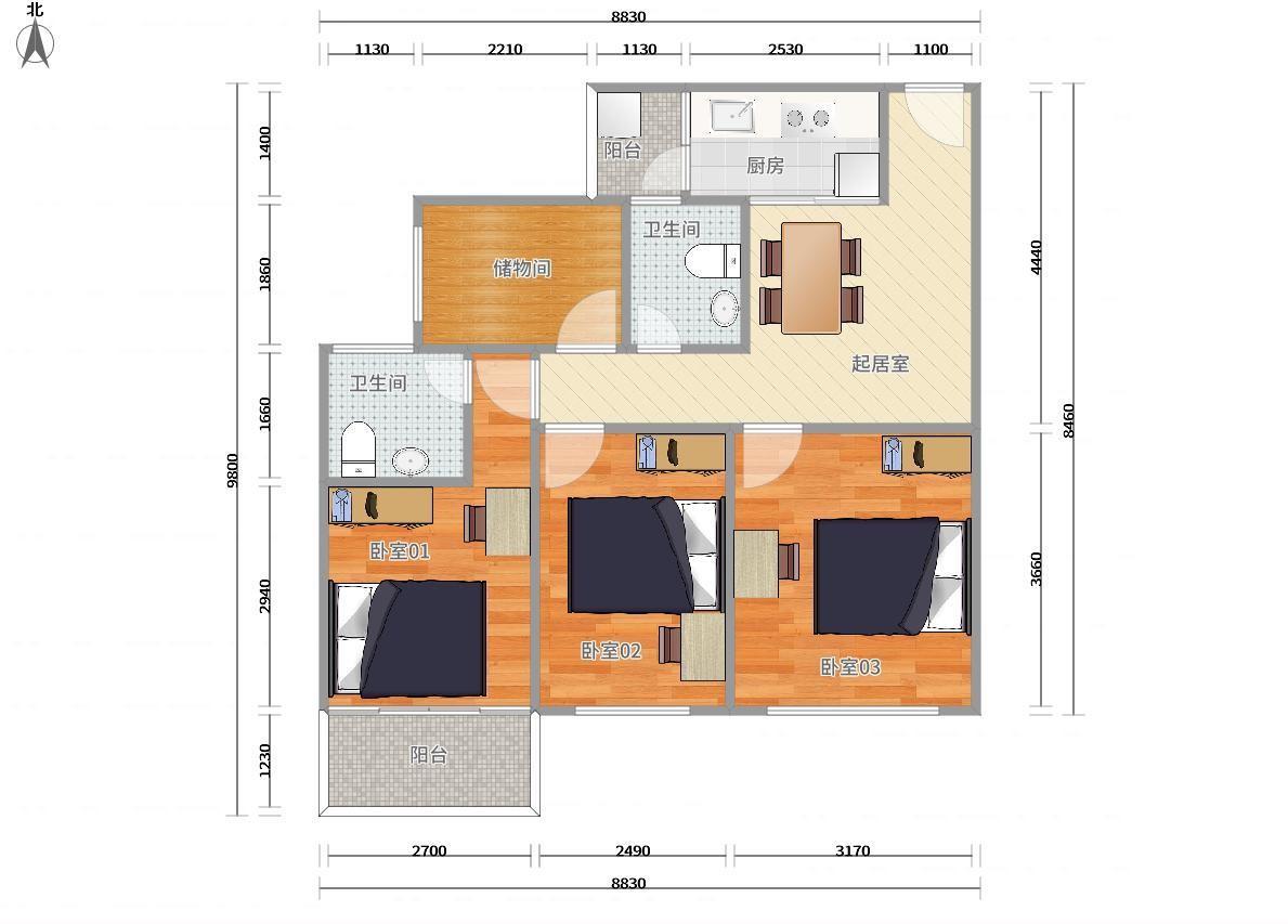 龙岗区大运3号线(龙岗线)大运颐安都会中央二期3居室