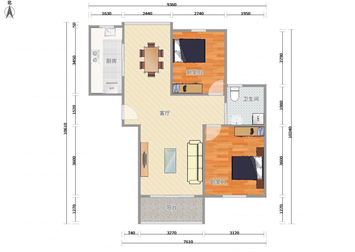 徐汇植物园3号线石龙路华沁家园2居室