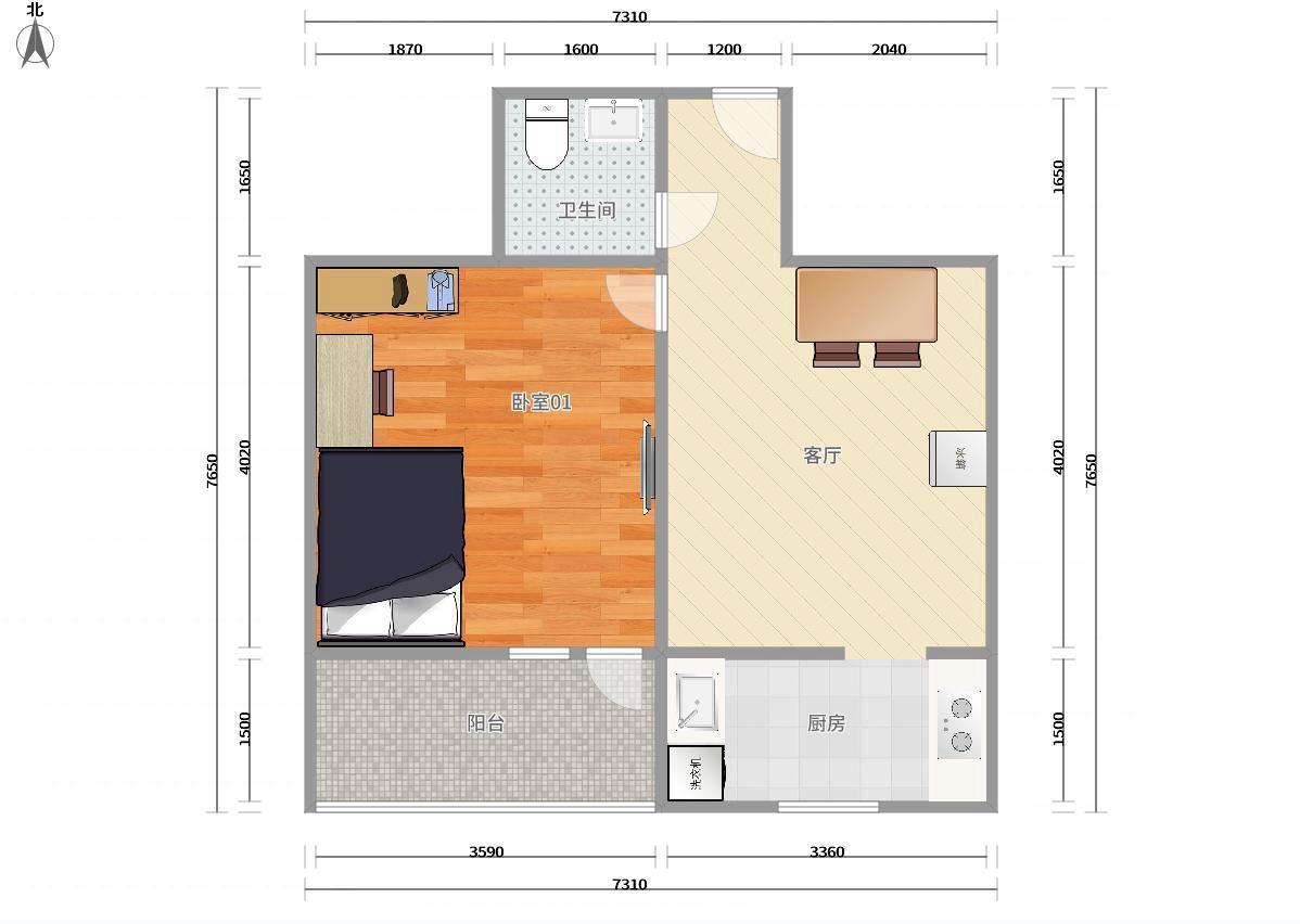 东城安定门8号线,2号线鼓楼大街安德里北街24号院1居室