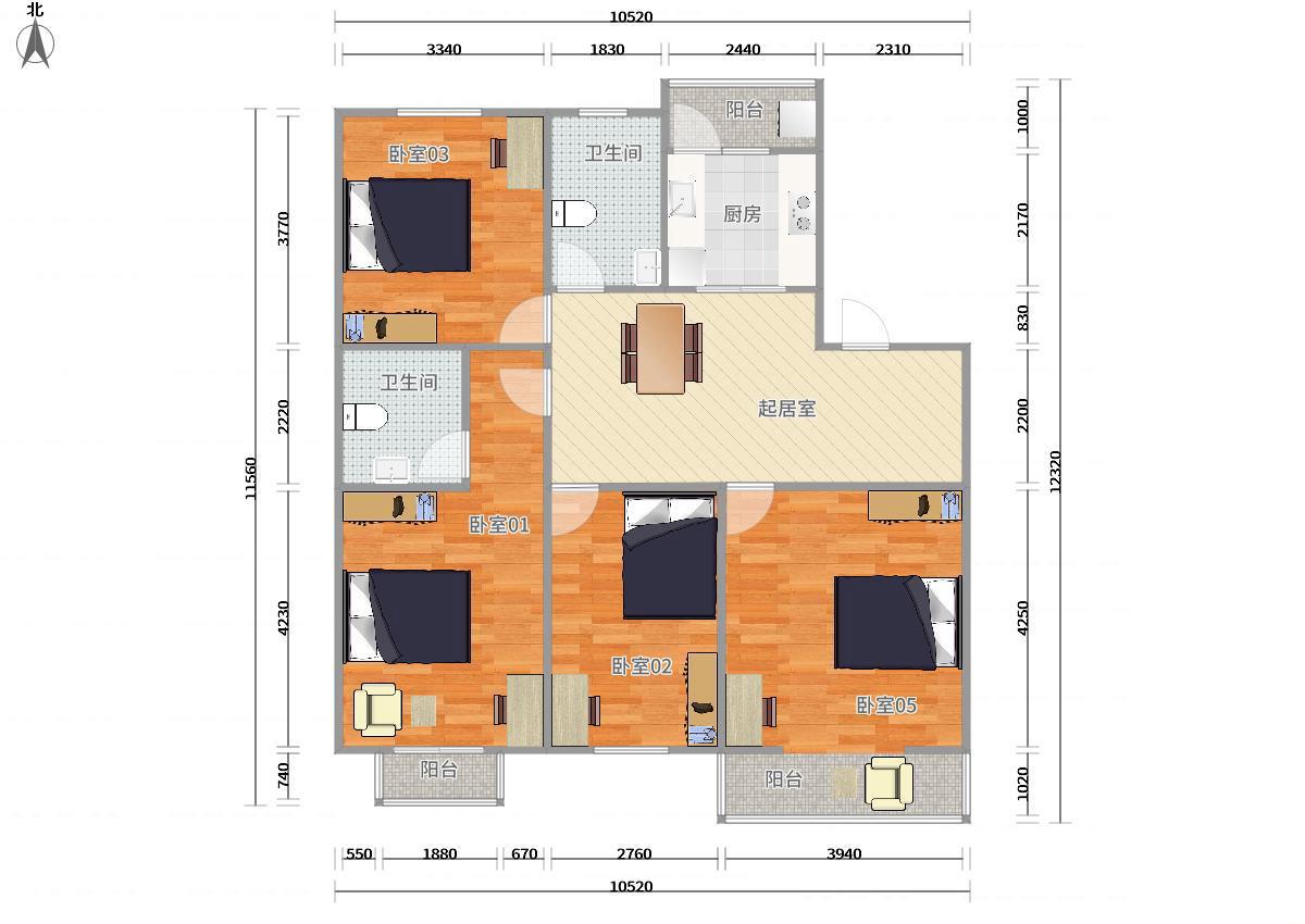 浦东川沙2号线川沙华盛名门4居室