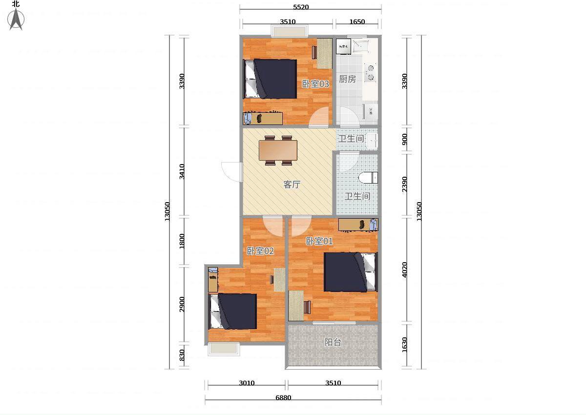 风景大院3居室 01卧租房|房屋出租(杭州链家网)