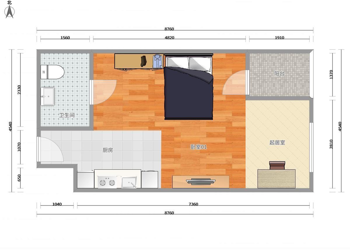 宝山罗店7号线美兰湖上置美兰优湖1居室