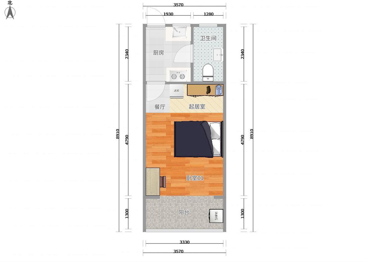 虹口江湾镇3号线大柏树水电路1381弄1居室