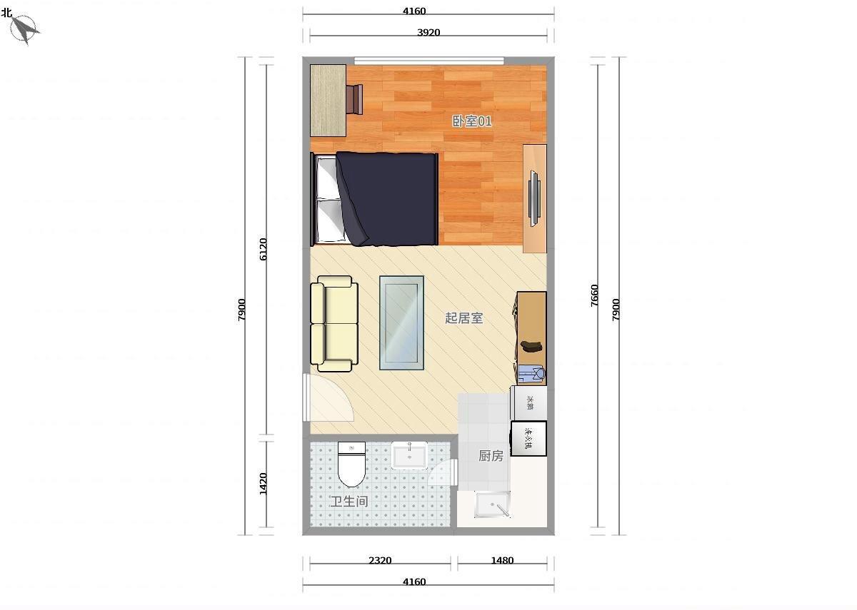 丰台科技园区9号线丰台南路设计师广场1居室