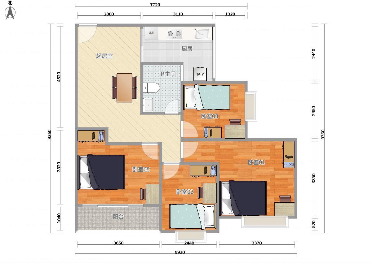 龙岗区5号线(环中线)上水径中海怡翠山庄四期4居室