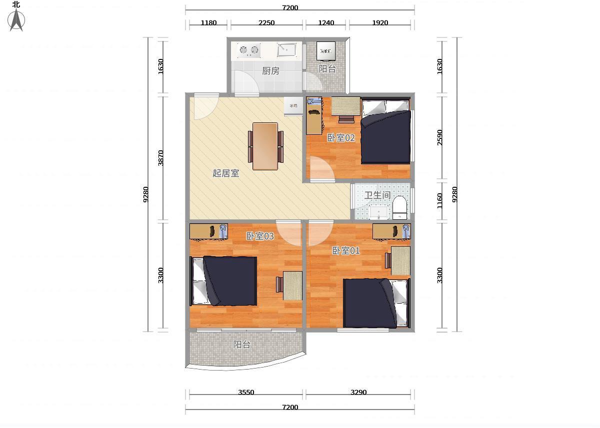 龙岗区布吉3号线(龙岗线)大芬和通花园3居室