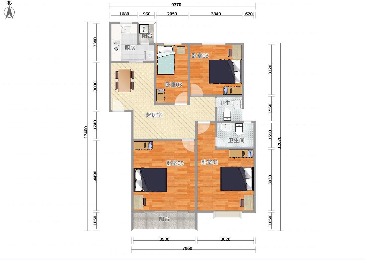 龙岗区坂田5号线(环中线)五和万科四季花城六期4居室