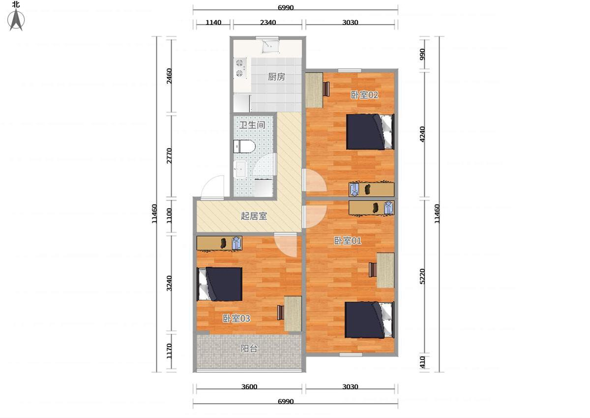 徐汇上海南站1号线,3号线上海南站华东花苑3居室