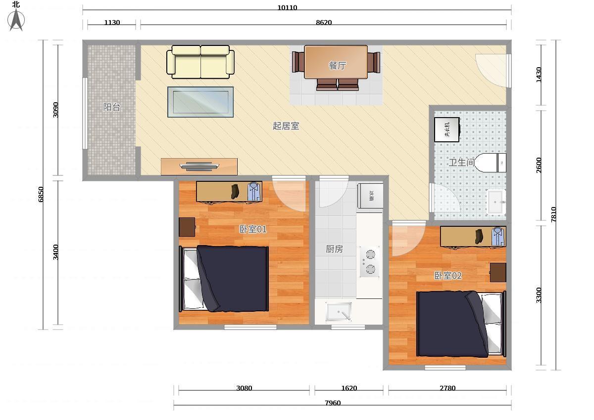 大兴大兴其它4号线义和庄恒大未来城2居室