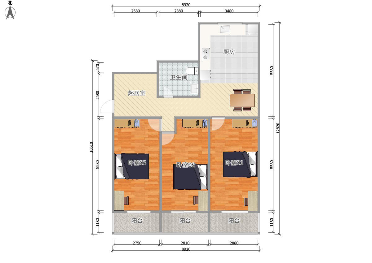 东城和平里5号线和平里北街和平里九区3居室
