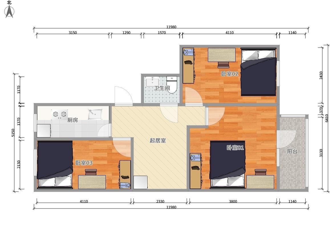 东城和平里5号线和平里北街西青年沟3居室