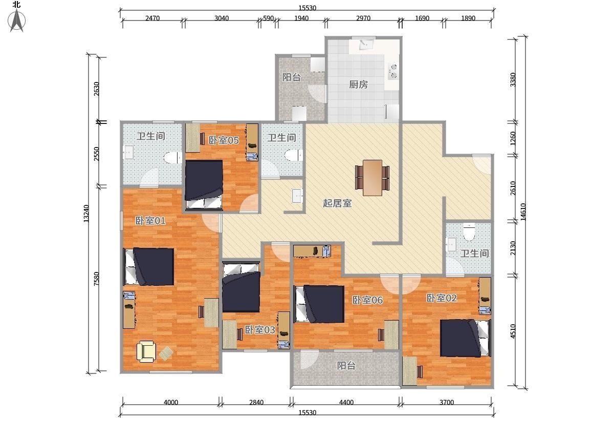宝山罗店7号线罗南新村万科琥珀郡园5居室