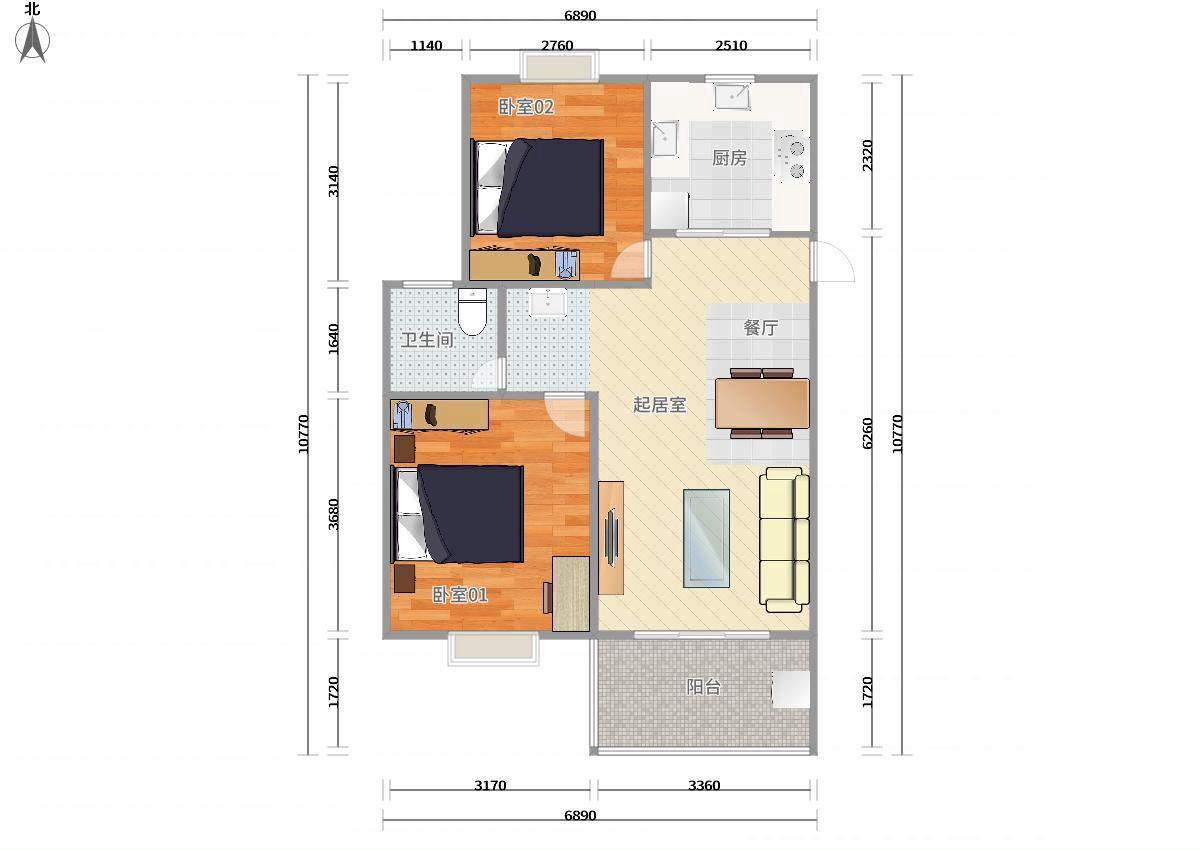 松江泗泾9号线泗泾金地自在城(二期)2居室