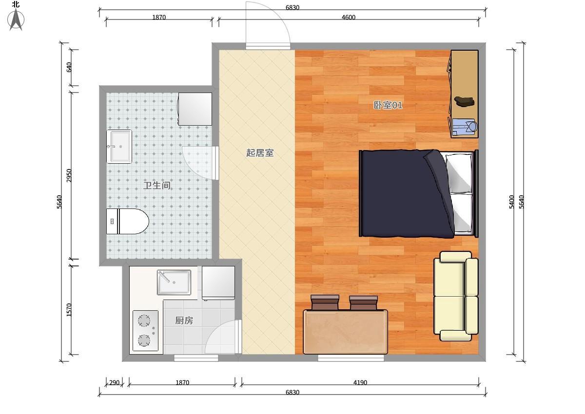 丰台角门10号线角门东阳光花园1居室